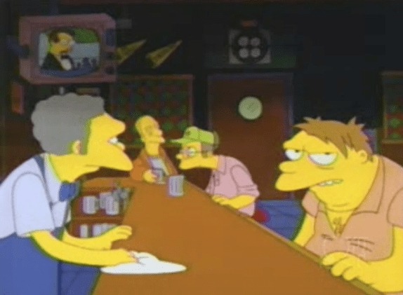 MST3K on TV at Moe's Tavern on The Simpsons - Who Shot Mr. Burns? (Part 1)