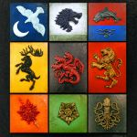 9 House Sigils - A Song of Ice and Fire Relief Sculptures by Jeff Spence