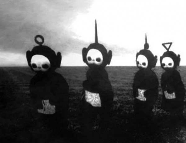 Black and White Teletubbies Nightmare