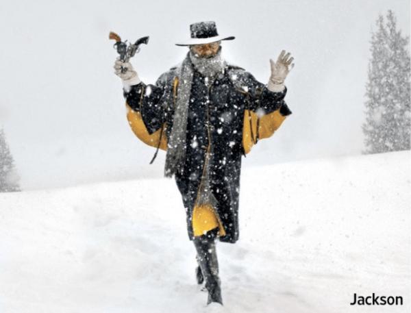 Samuel L. Jackson in Quentin Tarantino's The Hateful Eight