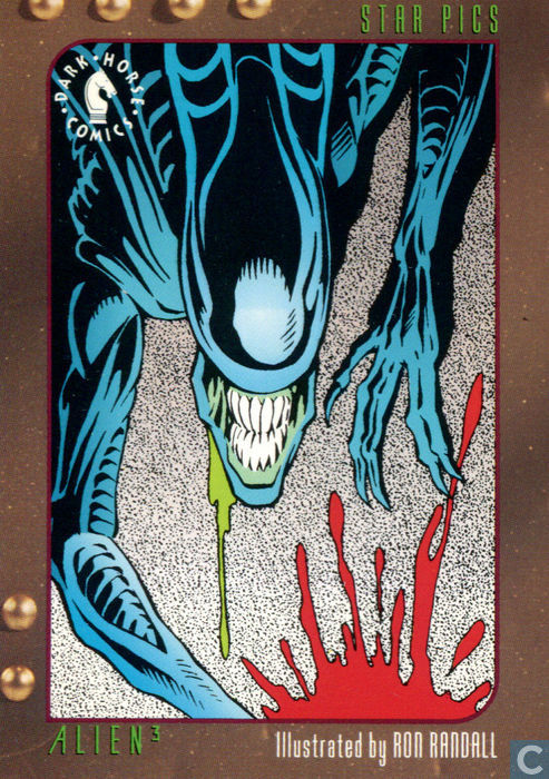Alien 3 Card Illustrated by Ron Randall - Dark Horse Comics