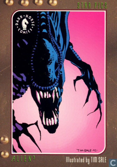 Alien 3 Card Illustrated by Tim Sale - Dark Horse Comics