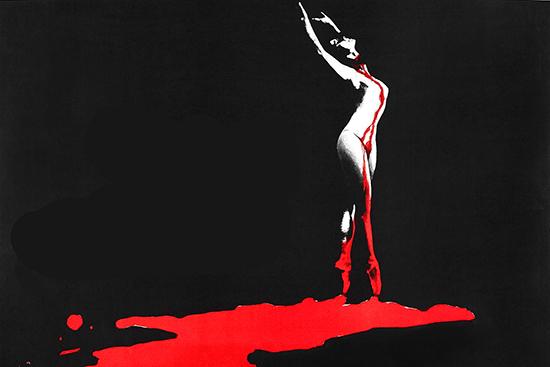 Bloody Ballerina on poster for Dario Argento's Suspiria