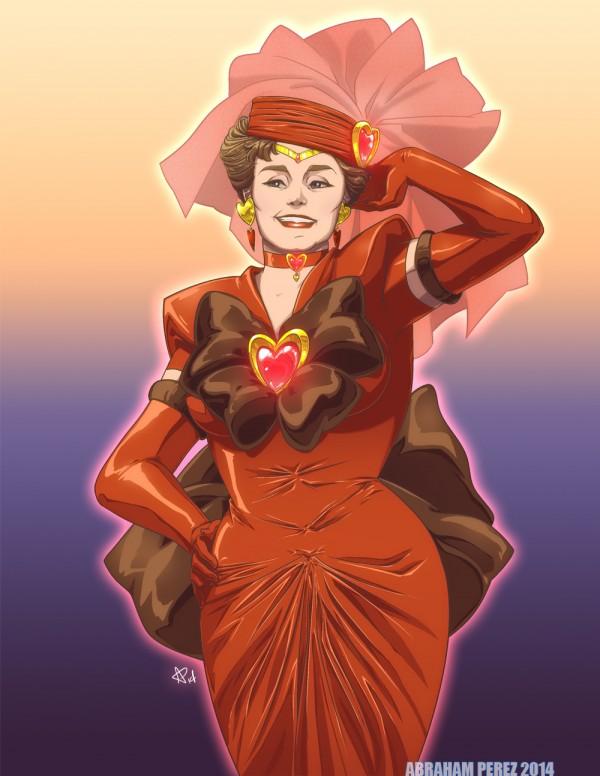 Sailor Devereaux - Golden Girls Blanche (Rue McClanahan) as Sailor Scout