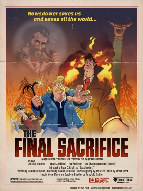 Final Sacrifice Poster by Mark Paulik. MST3K Rowsdower Art.