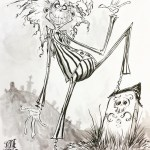 Beetlejuice Illustration by Skottie Young - Tim Burton Fanart