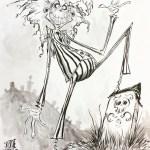 Beetlejuice Illustration by Skottie Young - Tim Burton Fanart