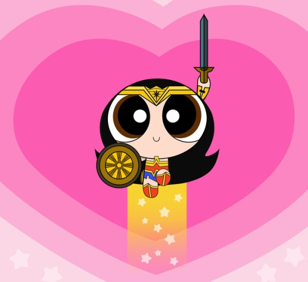 Wonder Woman Powerpuff Girl Mashup Art by Jeniree Reyes