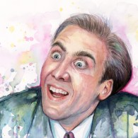 Nicolas Cage You Dont Say Meme Painting Watercolor Vampires Kiss Prints