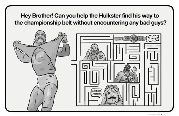 Old School Wrestling Activity Book Hulk Hogan