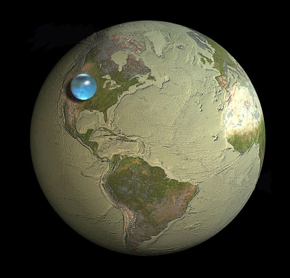 IO9: If you collected all of Earth's water into a sphere, how big would it be?