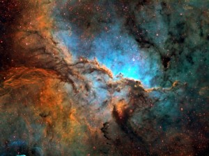 Gas cloud after a supernova explosion