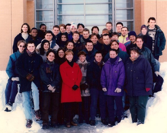 University of Montréal, Computer Science Class of 1997. Radu is the last on the right, on the top row