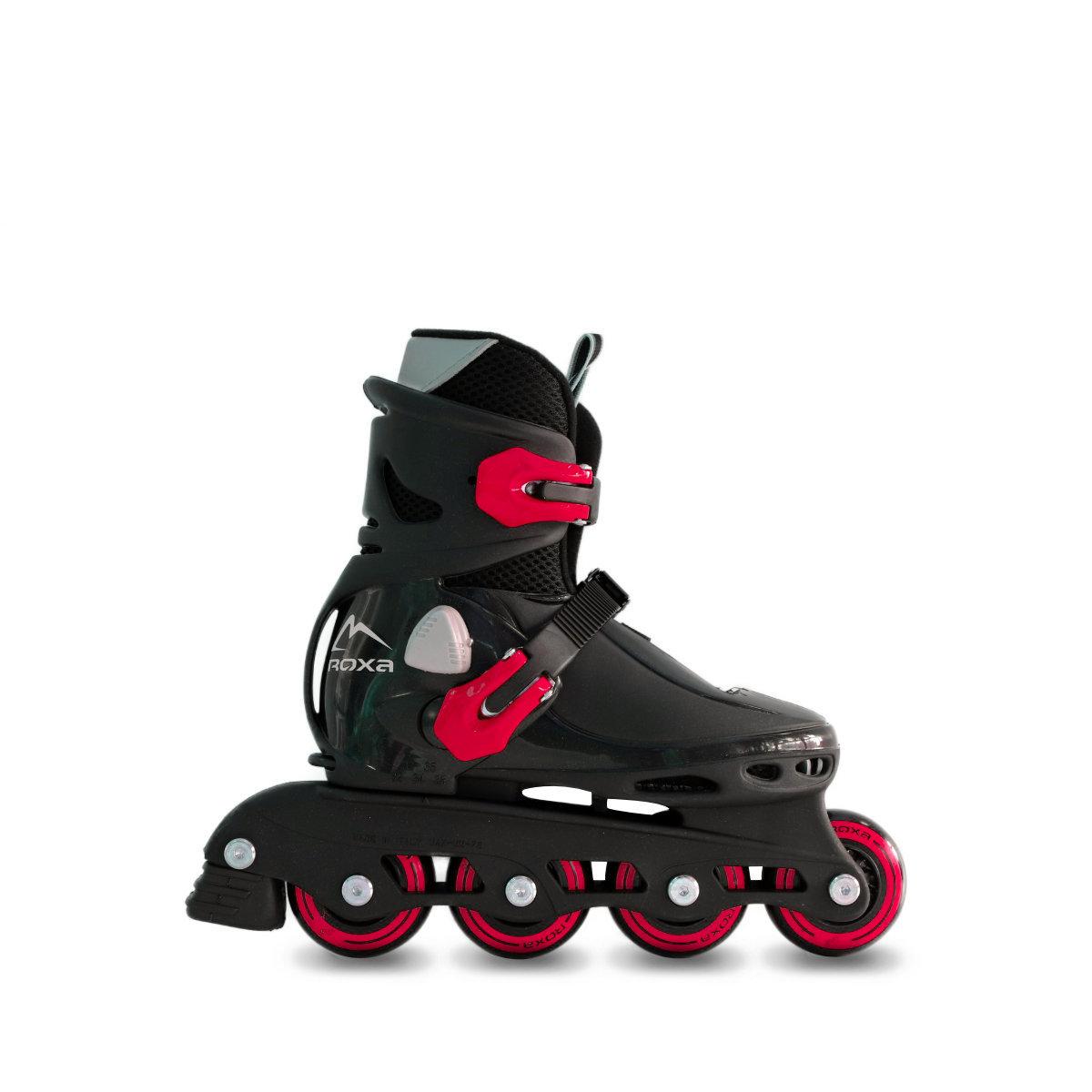 pattini-a-rotelle-bambino-allungabili-roxa-bettle-nero-rosso