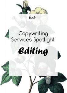 Copywriting Services Spotlight - Editing
