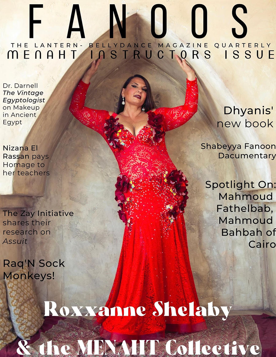 Fanoos Magazine cover with Roxxanne on the cover, dressed in red
