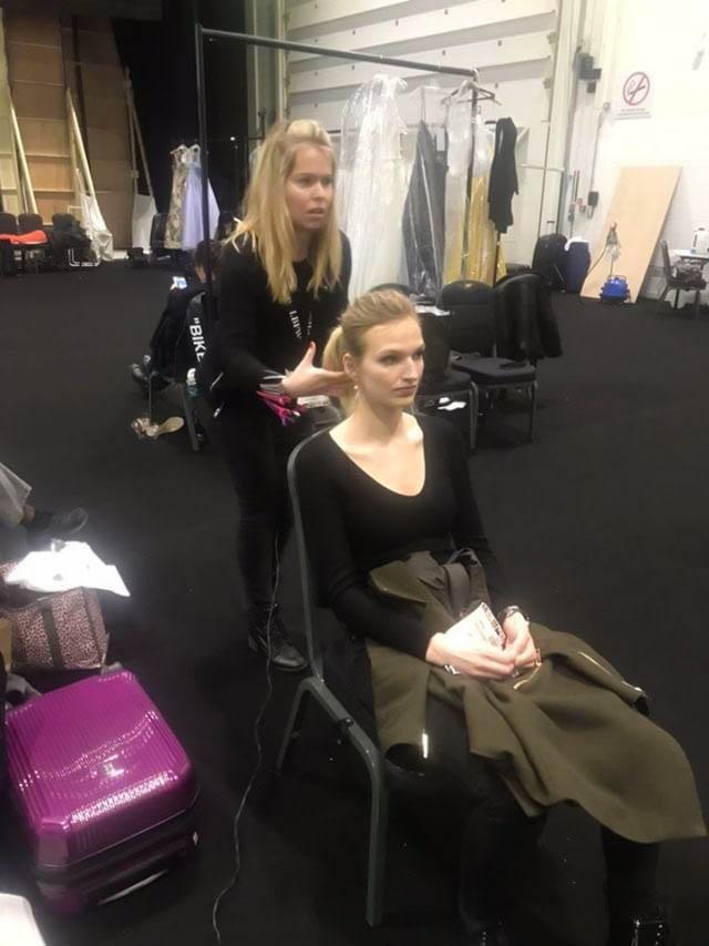 Bridal fashion week back stage