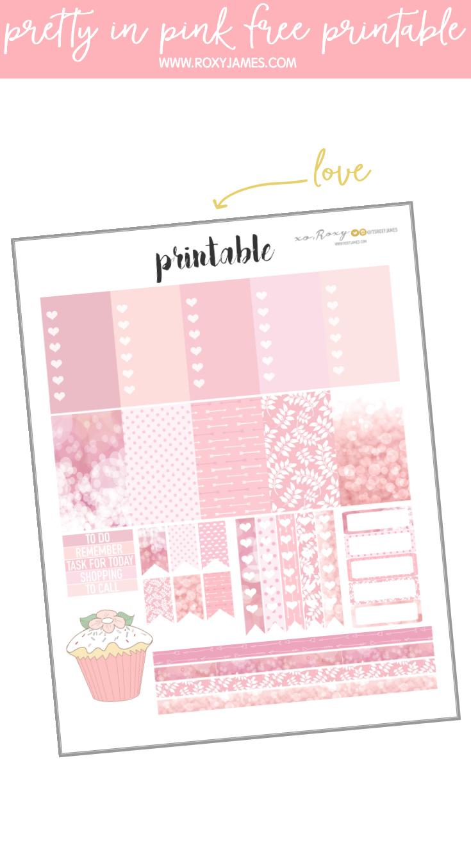 pretty pink free printable
