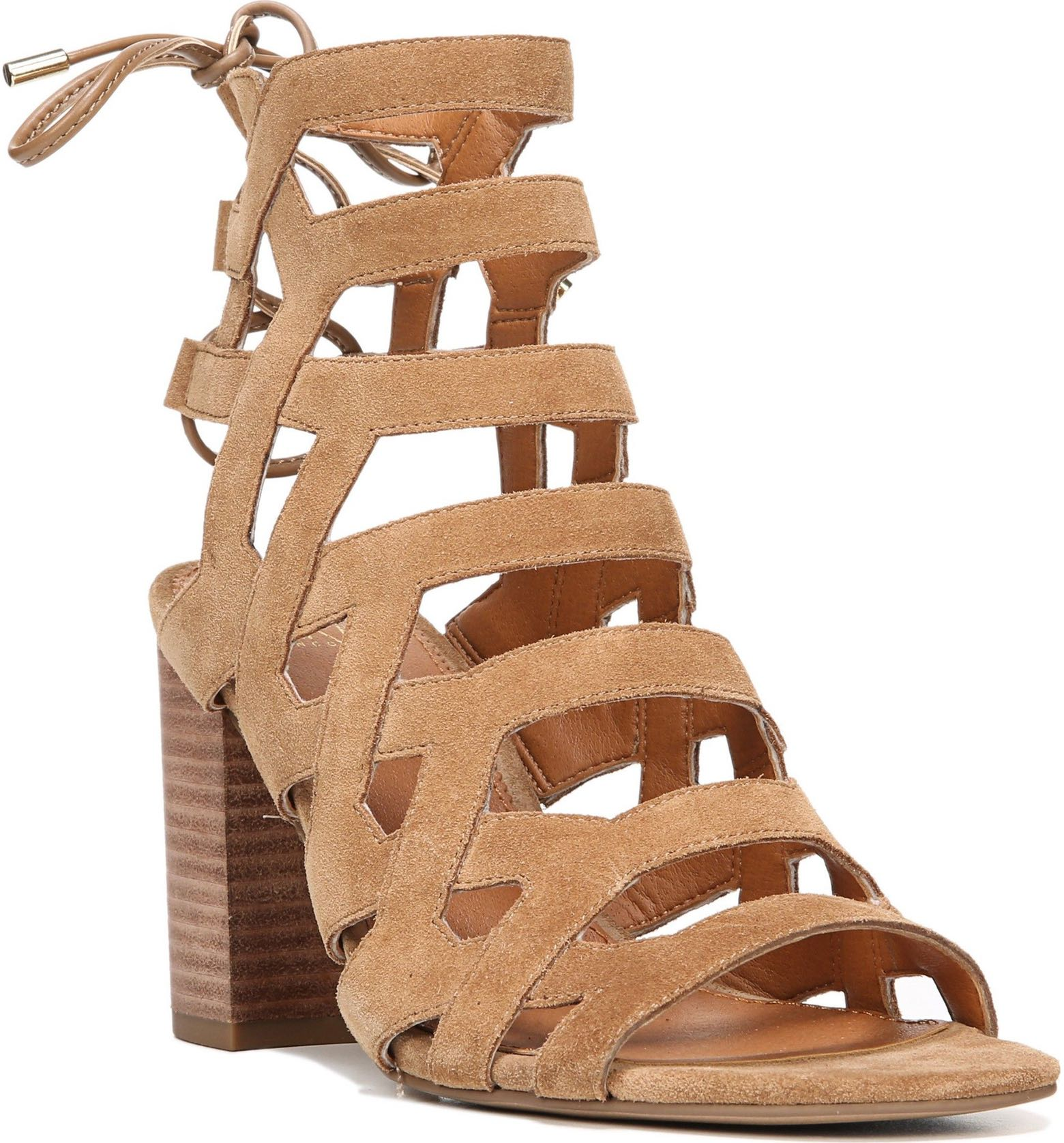 Connie Block Heel Cage Sandal