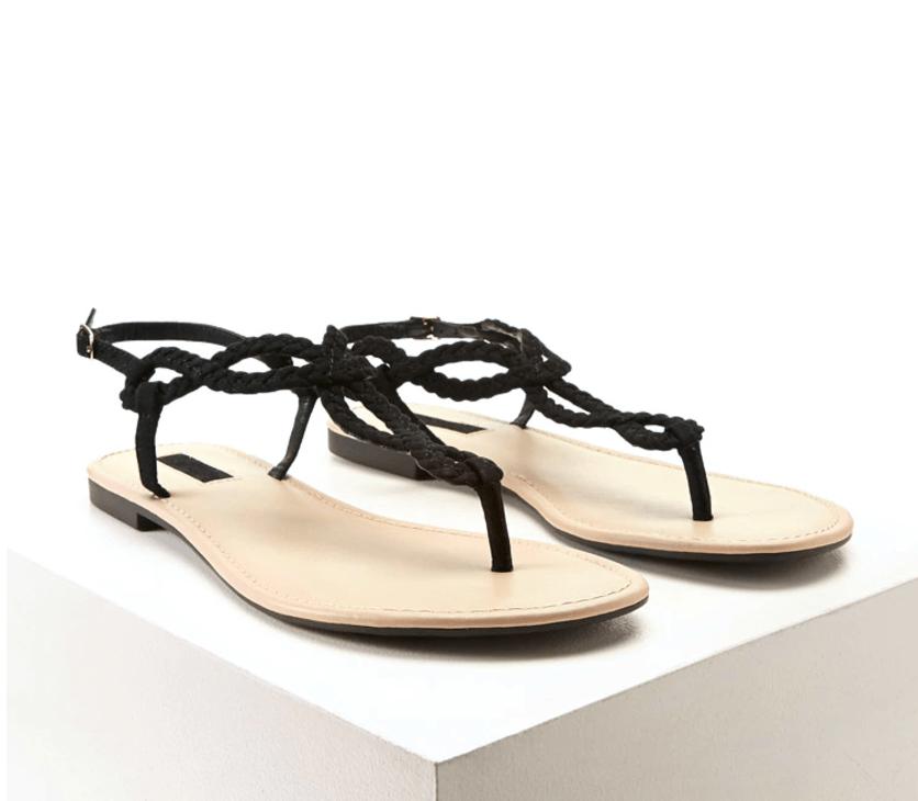 Braided Cutout Sandals