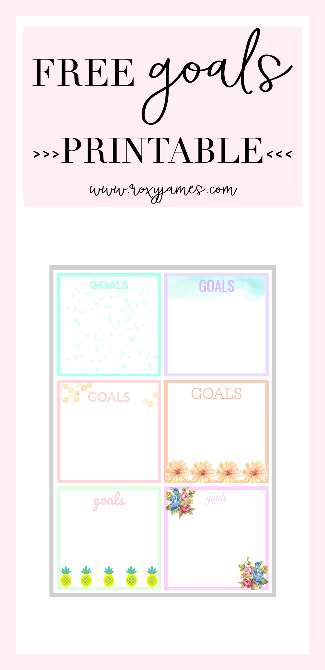 Track Your Goals Amp Free Goals Printable