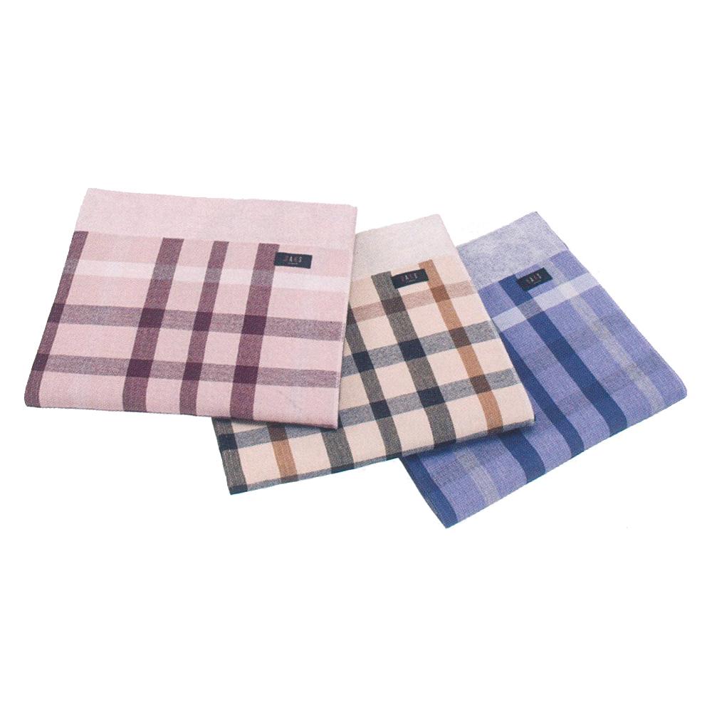 DHB22303-43280 DAKS單人麻紗毛巾被-週年格紋