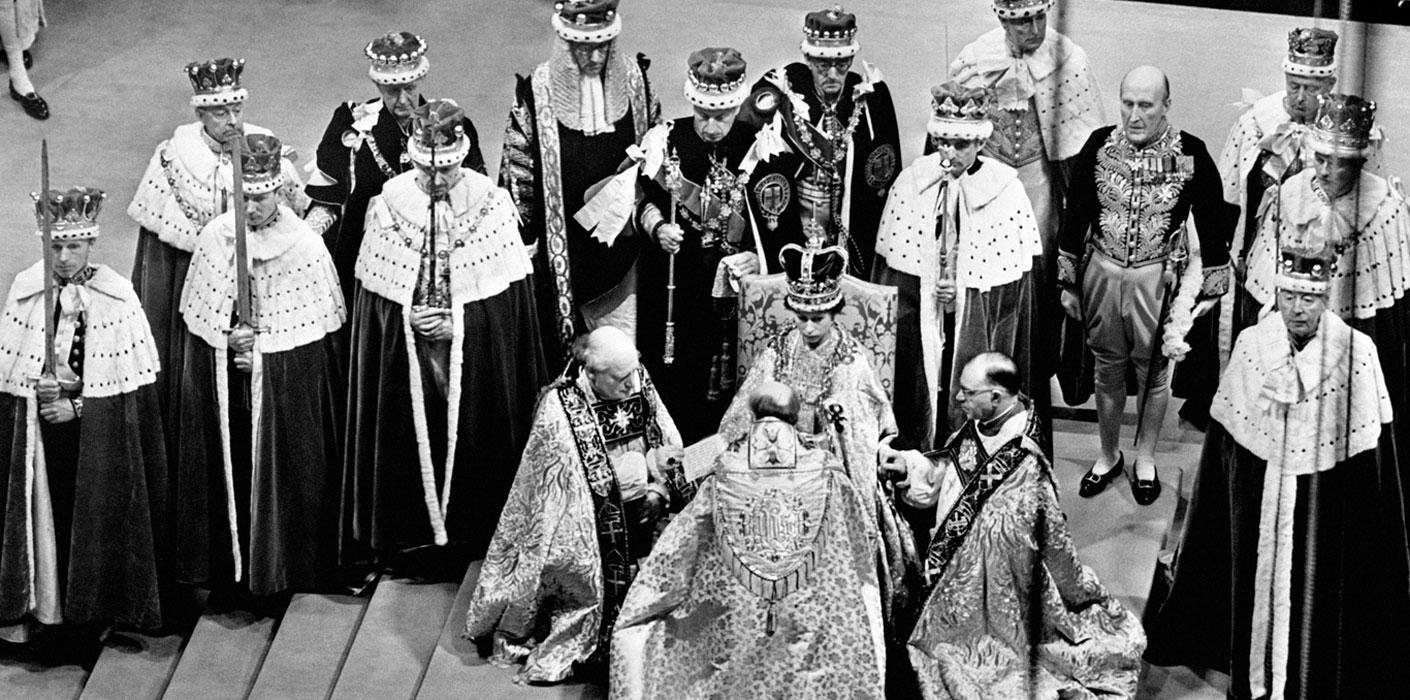The Coronation of Queen Elizabeth II in Westminster Abbey