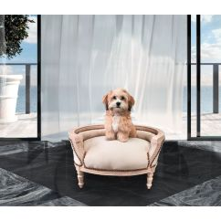Baroque Sofa Bed Foam Set For Dog Or Cat Beige Velvet And ...