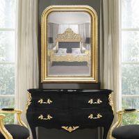 Mirror Louis Philippe style gilt bevelled mirror