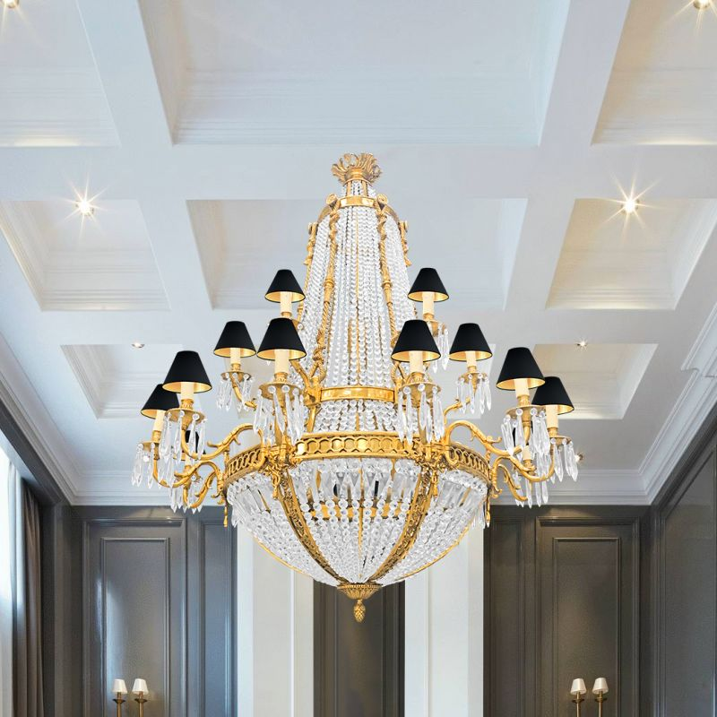 bronze kitchen chandelier glass tile for backsplash very large napoleon iii style with 18 sconces