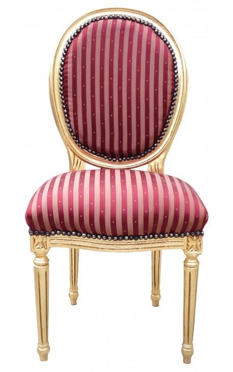 chaise de style louis xvi a pompon avec
