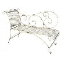 Daybed patinated wrought iron beige