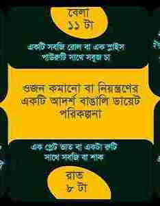 Weight loss diet chart in bangla also bengali food plan for rh royalbangla