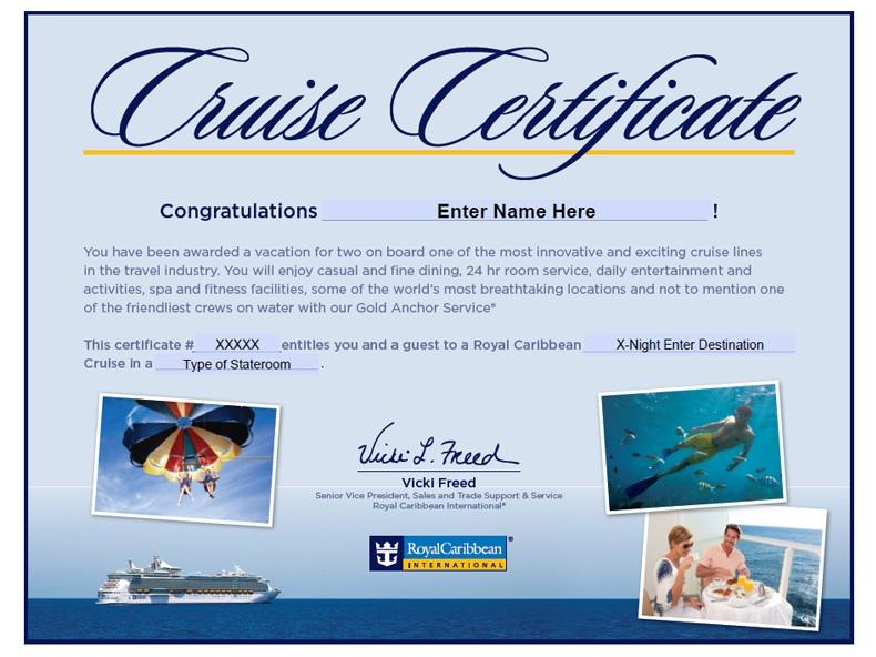 Royal Caribbean Gift Certificate Redemption Lamoureph Blog