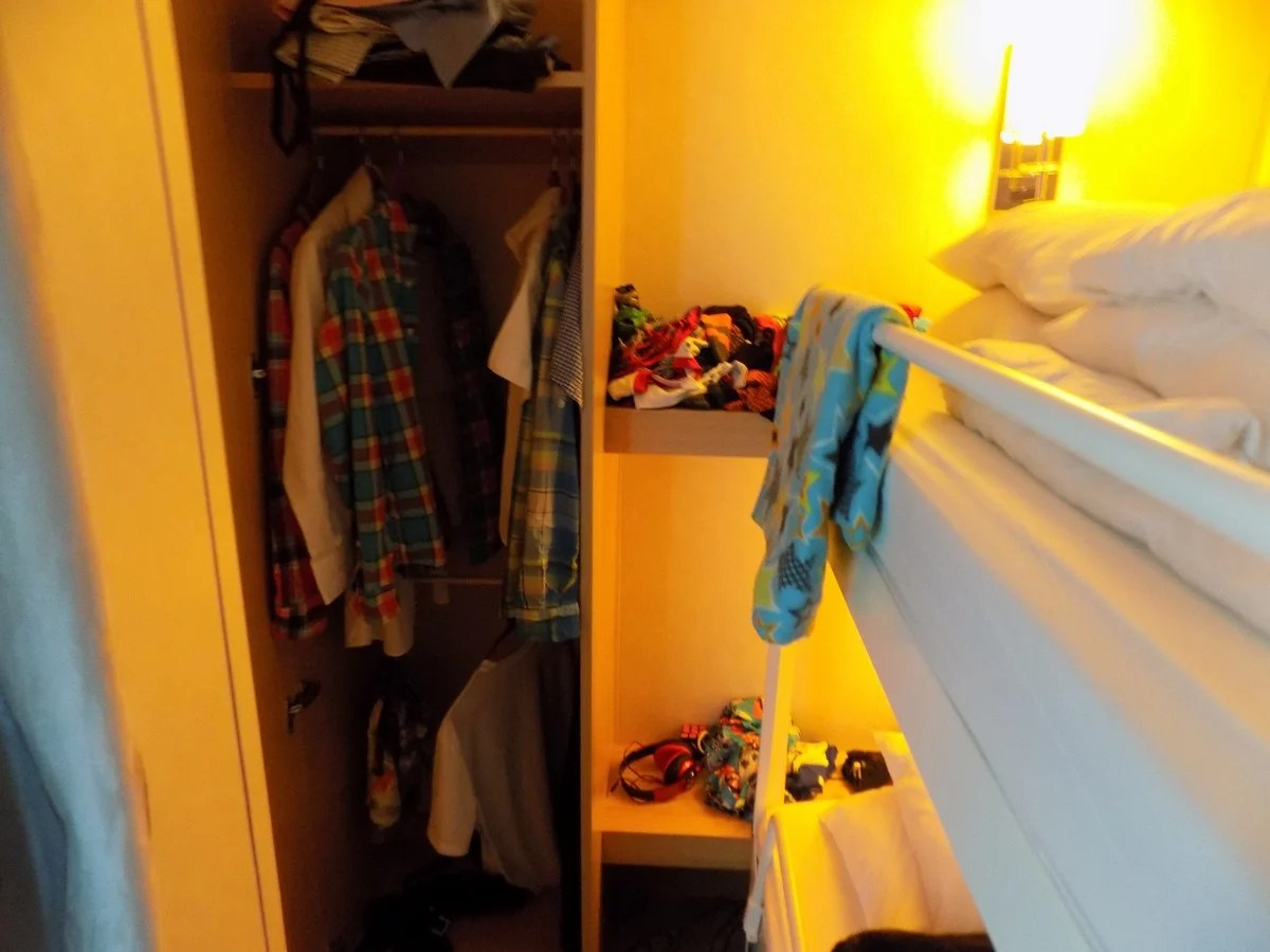Photo tour of Family Panoramic Ocean View Stateroom on Royal Caribbeans Freedom of the Seas