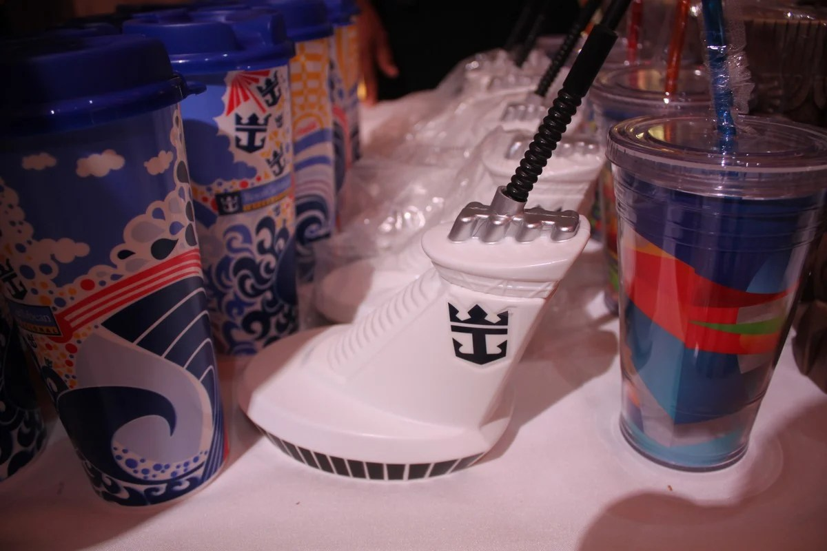 Spotted Royal Caribbean souvenir funnel drink cup  Royal