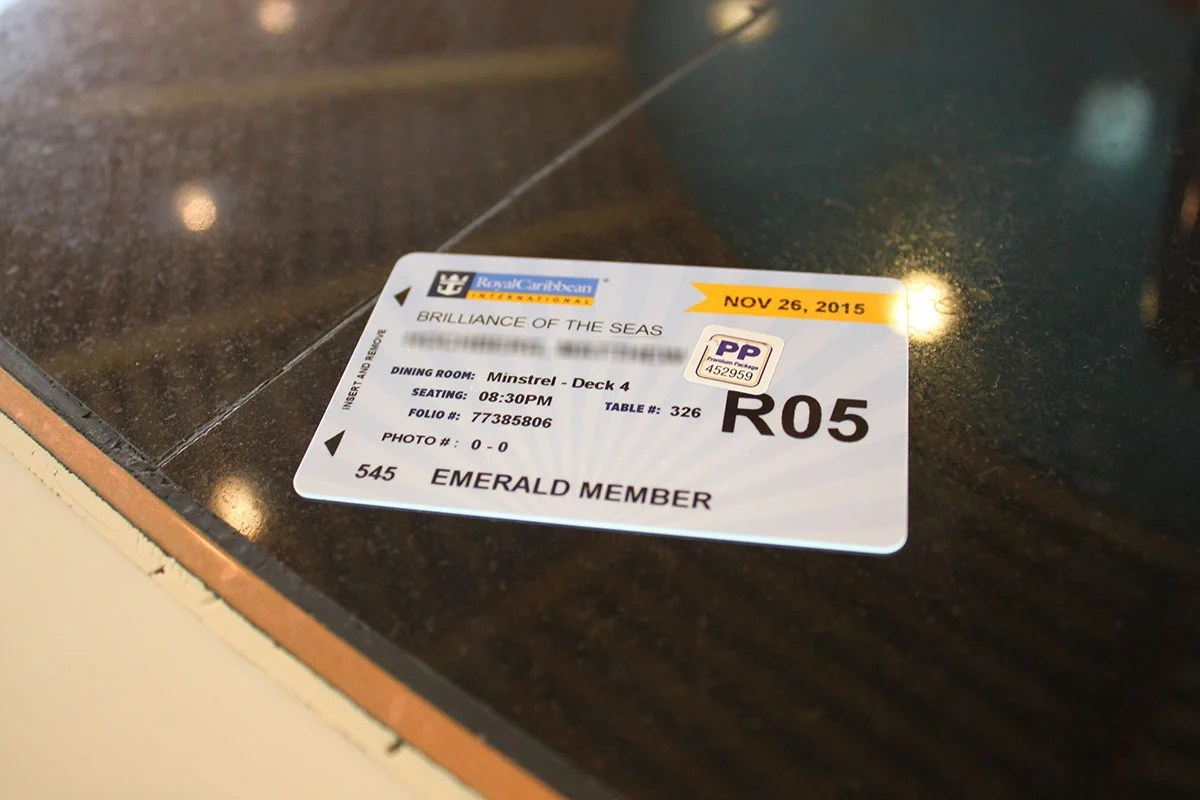 First time cruisers Royal Caribbeans SeaPass card