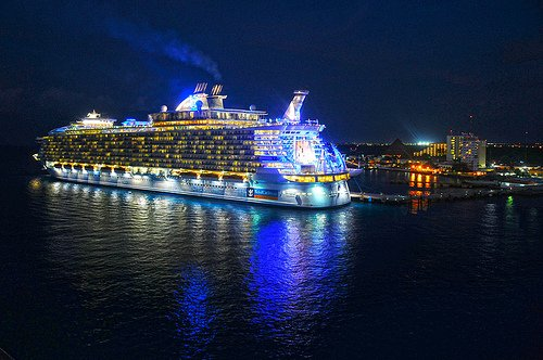 Photo of the Day Allure of the Seas at Night  Royal Caribbean Blog