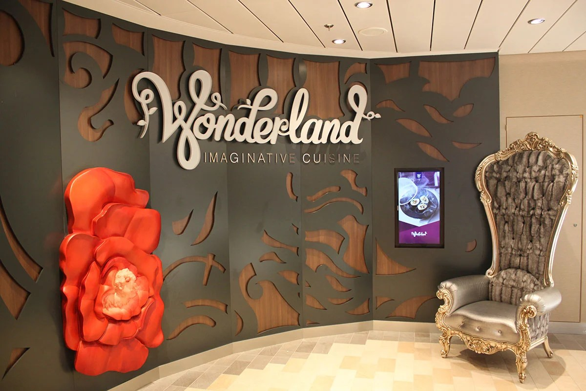 Restaurant Review Wonderland  Royal Caribbean Blog