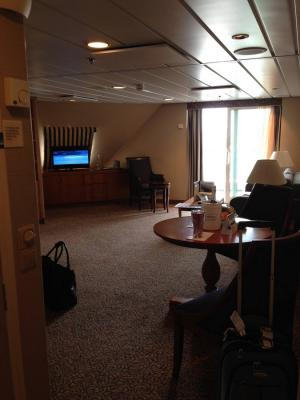 square sofa beds modern nyc italian furniture leather photo tour of two bedroom suite on royal caribbean's ...