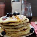 Pancakes moelleux aux myrtilles