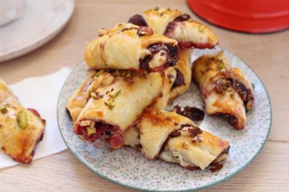 croissants chocolat cerises