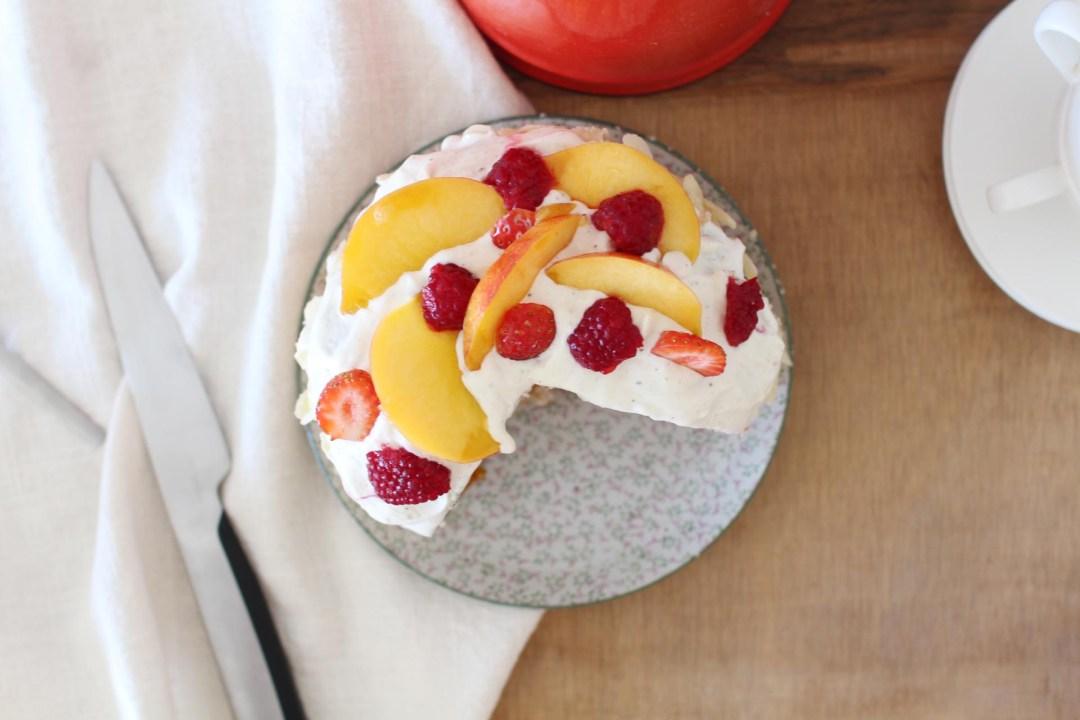 layer cake noisettes fruits