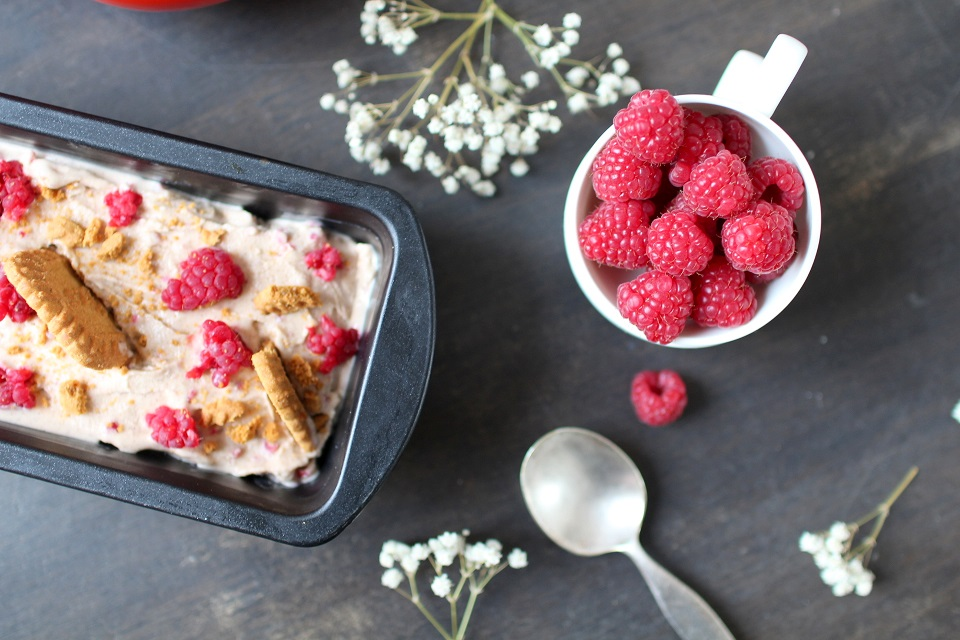 glace speculoos framboises maison