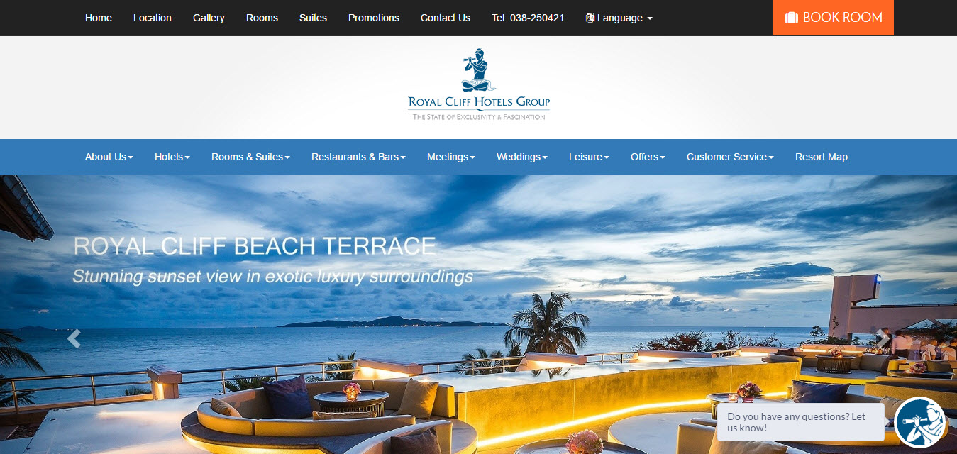 hotel's official website