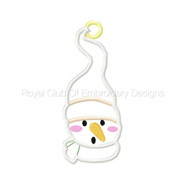 In The Hoop Applique Snowmen Gift Card Holders Set