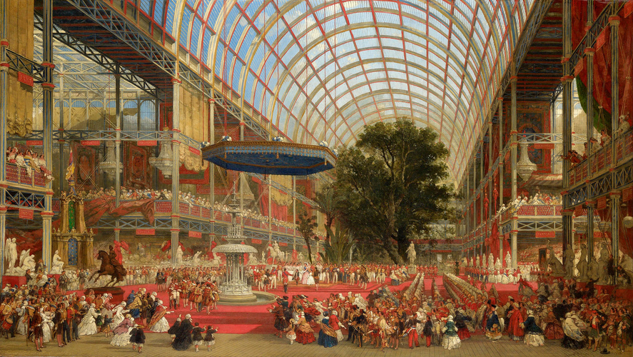 David Roberts 1796 1864 The Inauguration Of The Great