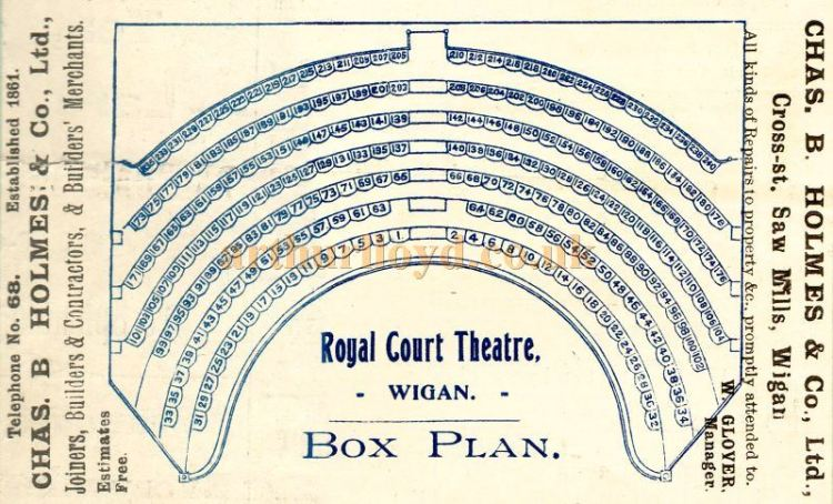 Royal Court Theatre Wigan box plan