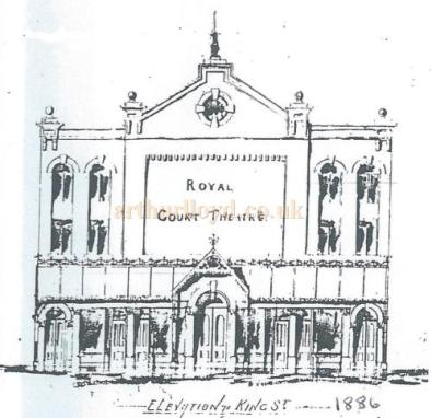 Royal Court Theatre elevation 1886