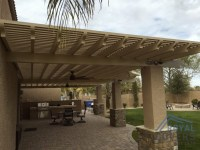 Custom Alumawood Patio Cover With Outdoor Fans in Gilbert ...